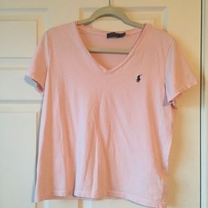 Polo Ralph Lauren | Blush Pink V-Neck T-shirt